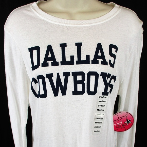 Dallas Cowboys Her Style NFL Long Sleeve T-Shirt 2716733bc